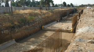 احداث کانال بتنی سر پوشیده رودخانه آبشوران کرمانشاه