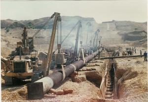 احداث 45کیلومتر خط لوله 20 اینچ زیرزمینی-آبادان