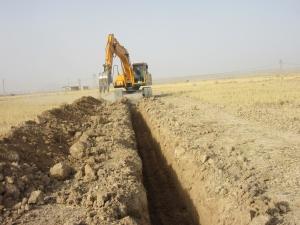 شبکه آبیاری تحت فشار اراضی بنه باشت