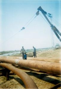 اجراي سيويل و لولهگذاري خط لوله انتقال ميدان گازي مارون