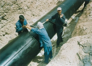 تعويض 15 كيلومتر از پوشش خط لوله (موته – حسن رباط)