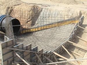 شبکه آبیاری قصرشیرین کانال RMC