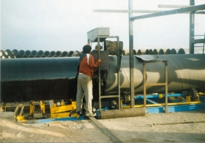 اجراي خط انتقال لوله فولادي از سد تهم به تصفيه خانه