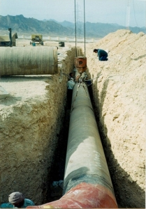 عملیات اجرایی طرح انتقال آب از چاه نيمه زابل به زاهدان
